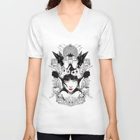 witchcraft V-neck T-shirts featuring Witchcraft by Sergio Saucedo