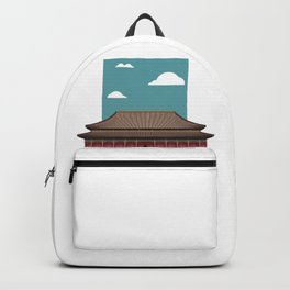 Chinese Building Illustration Backpack