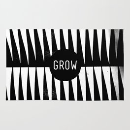 Black and White Grass (Customizable Label) Rug
