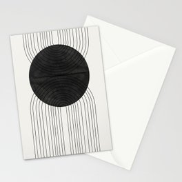 Line Art and Circle Stationery Cards