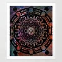 chakra Art Prints featuring CHAKRA by Spectronium - Art by Pat McWain