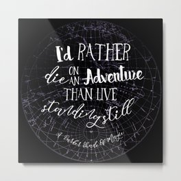 Lila Bard - Die On An Adventure Metal Print