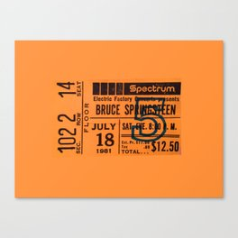 Concert Ticket Stub - Springsteen Canvas Print