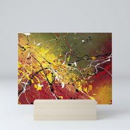 INNERGLOW - Abstract painting design, colorful splash art, Large canvas art Mini Art Print