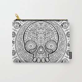 Skull mexican art from the Path to Mictlan Carry-All Pouch