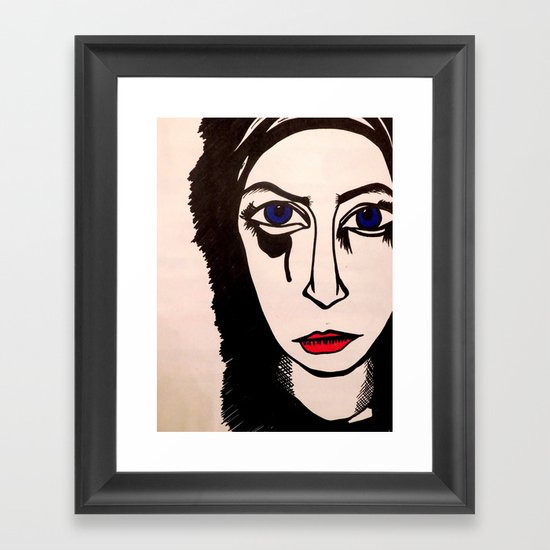 angry me Framed Art Print
