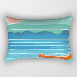 Minnesota travel poster retro vibes 1970's style throwback retro art state usa prints Rectangular Pillow