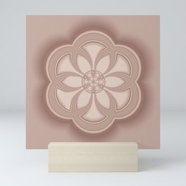 Beige Mandala Mini Art Print