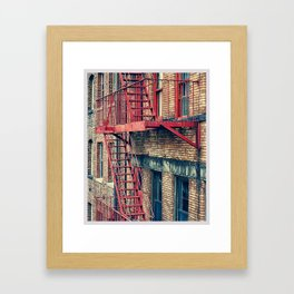 Color Theory, Red Framed Art Print