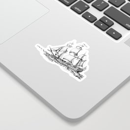 sailing ship . Home decor Graphicdesign Sticker