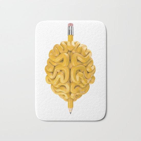 Pencil Brain Bath Mat