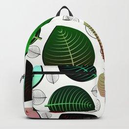 Bold Leaf Design Backpack