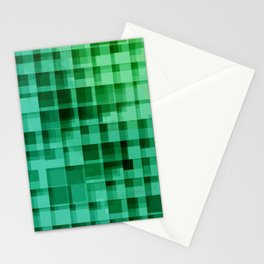 green squares pattern Stationery Cards