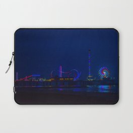Galveston Pleasure Pier At Night Laptop Sleeve