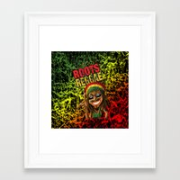 reggae Framed Art Prints featuring Roots Reggae by Kevin Rogerson