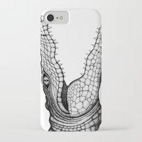 crocodile iPhone & iPod Cases featuring Crocodile by Hannighan