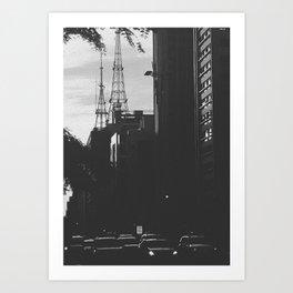 Paulista Avenue B/W Art Print