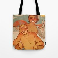 cargline Tote Bags featuring Summer by cargline