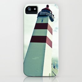 Lighthouse in norway iPhone Case