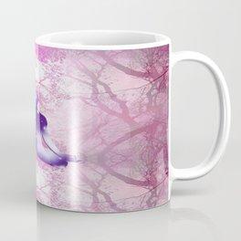 Floating Yogi in the Trees (magenta-violet) Coffee Mug
