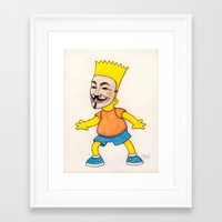 anonymous Framed Art Prints featuring Anonymous by Daniel Cash
