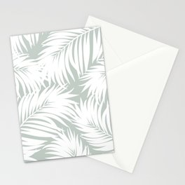 Palm Tree Fronds White on Rainwashed Maui Hawaii Tropical Graphic Design Stationery Cards