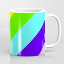 Stripes Diagonal Rainbow Coffee Mug