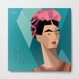 Frida Kahlo Cubism Metal Print