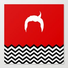 Black Lodge Dreams: Dale Cooper's Hair (Twin Peaks) Canvas Print