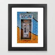 Call me on the line  Framed Art Print