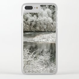 Late Winter's Snow Clear iPhone Case