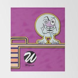 Dizzy Diver Cartoon Character on Springboard Throw Blanket