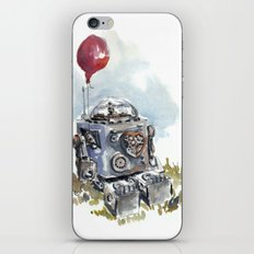 Robot with balloon iPhone & iPod Skin