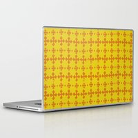 yellow pattern Laptop & iPad Skins featuring yellow pattern by JesseRayus