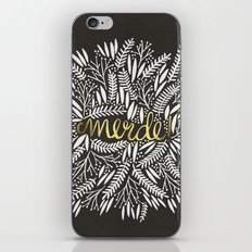 Pardon My French – Gold on Black iPhone & iPod Skin
