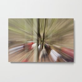 With speed into forest. Metal Print