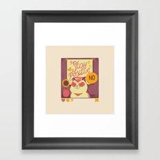 Stay Positive Cat Framed Art Print