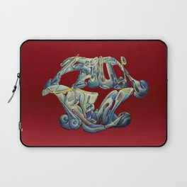 Faux Real - Bright Red - This is Not Typography Laptop Sleeve