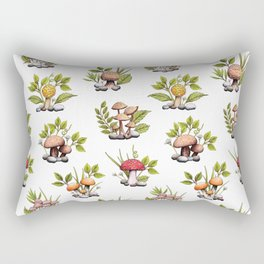 Fun With Fungi - A Colorful Mushroom Pattern Rectangular Pillow
