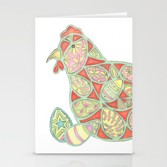 Henny Penny - Decorative Chicken Stationery Cards