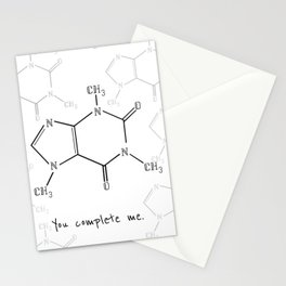 You Complete Me (Caffine Molecule) Stationery Cards