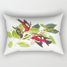White-winged Crossbill Bird Rectangular Pillow