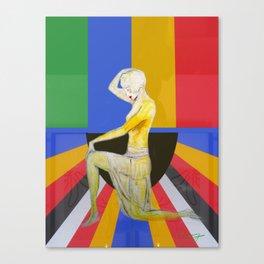 Showgirl, Popart design with vintage art deco style Canvas Print