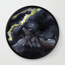 Lightning Storm Wall Clock