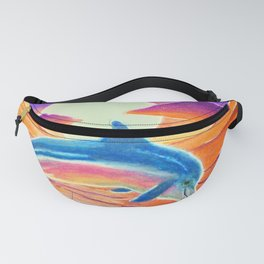Dolphin at sunset Fanny Pack