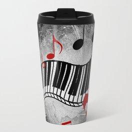 JAZZ PIANO KEYBOARD MUSIC Travel Mug
