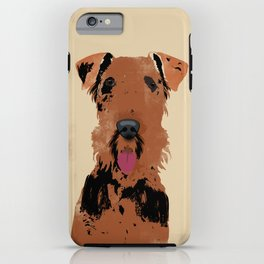 Airedale Terrier Dog Art iPhone Case