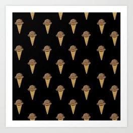 ice cream cones chocolate food fight apparel and gifts Art Print