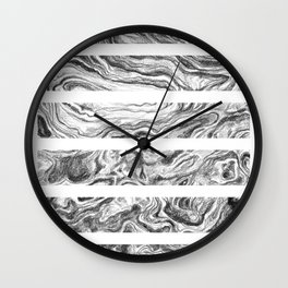 Point Lobos Stone- Stripes Wall Clock