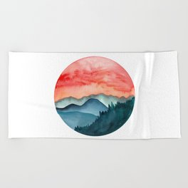 Mini dreamy landscape II Beach Towel